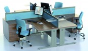 Open Plan Office Desk - Walnut